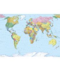 KOMAR Products papírová fototapeta 4-050 World Map, rozměry 254 x 184 cm
