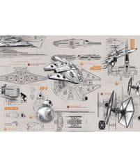 KOMAR Products papírová fototapeta 8-493 Star Wars Blueprints, rozměry 368 x 254 cm