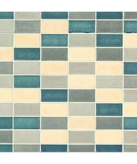 Gekkofix Samolepicí fólie GEKKOFIX 11744,45 cm x 2 m   Šed-modro-krémová mozaika