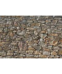 KOMAR Products vliesová fototapeta XXL4-727 Stone Wall, rozměry 368 x 248 cm