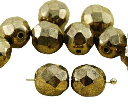 Kraftika 20db fém arany bronz kerek csiszolt tűz polírozott távtartó