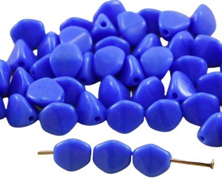 Kraftika 50db átlátszatlan kék sötét nagy csipet bicone csiszolt