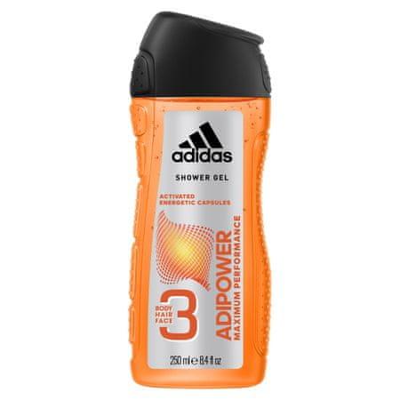 Adidas Adipower moški gel za prhanje, 250 ml