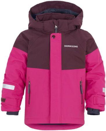 Didriksons1913 D1913 Lun dekliška bunda, roza, 80