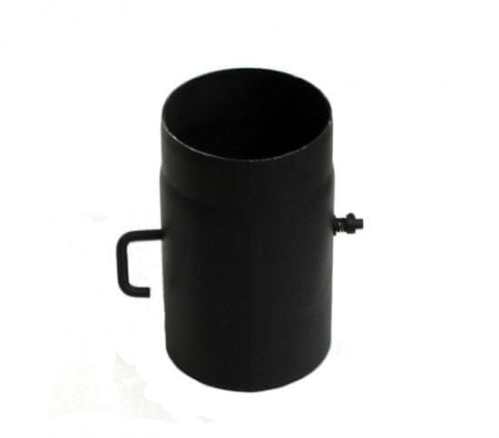Lienbacher Dymovod klapka o130/15, krátke tiahlo, oceľ, čierna