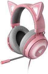 Razer Kraken Kitty gaming slušalice, roze