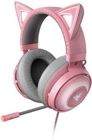 Razer słuchawki przewodowe gamingowe Kraken Kitty, różowe (RZ04-02980200-R3M1)