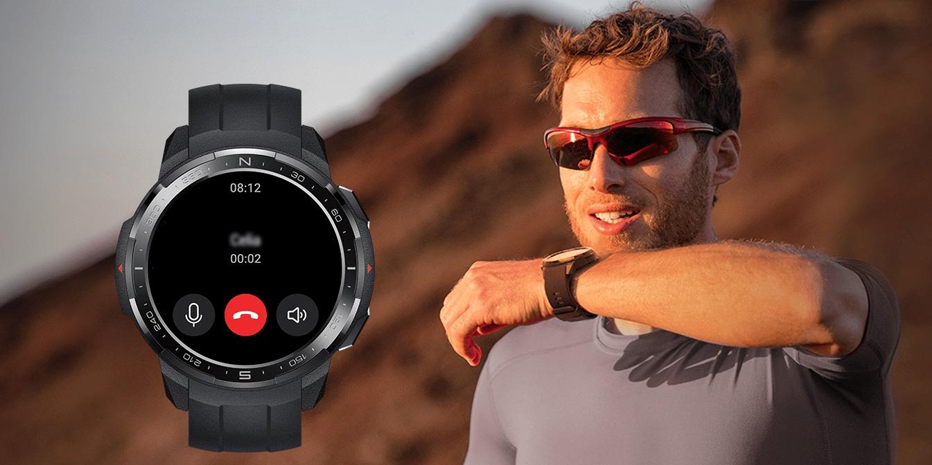 Inteligentné hodinky Watch GS Pro KANON-B19S Charcoal Black možnosť telefonovania