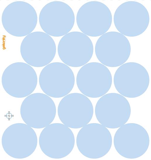 GEKONKY Puntíky blankytně modré