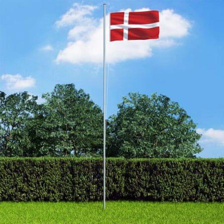 slomart Zastava Danske in aluminijast zastavni drog 6,2 m
