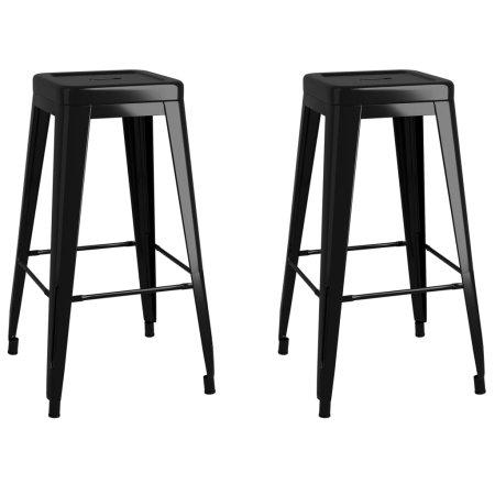 slomart Barski stolčki 2 kosa črna kovina
