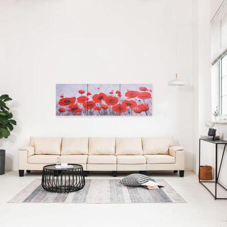 shumee Zestaw obrazów przedstawiający kwiaty, kolorowy, 120x40 cm