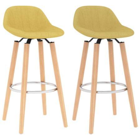 shumee Barski stolčki 2 kosa gorčično rumeno blago