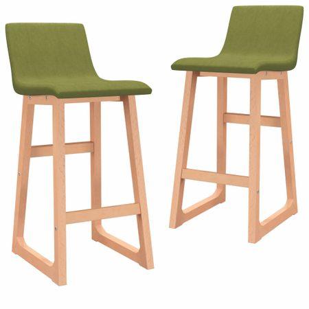 shumee Barski stolčki 2 kosa zeleno blago