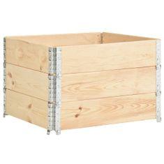 shumee Vyvýšené záhony 3 ks 100 x 100 cm masivní borové dřevo