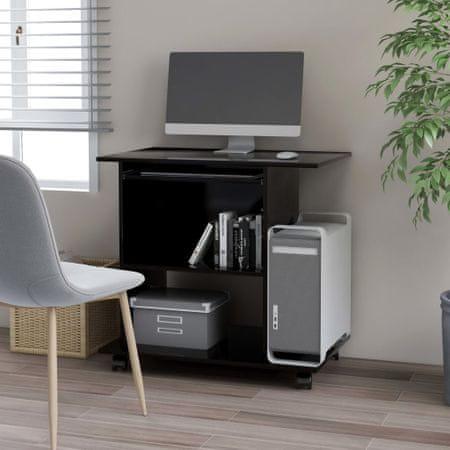shumee fekete forgácslap számítógépasztal 80 x 50 x 75 cm