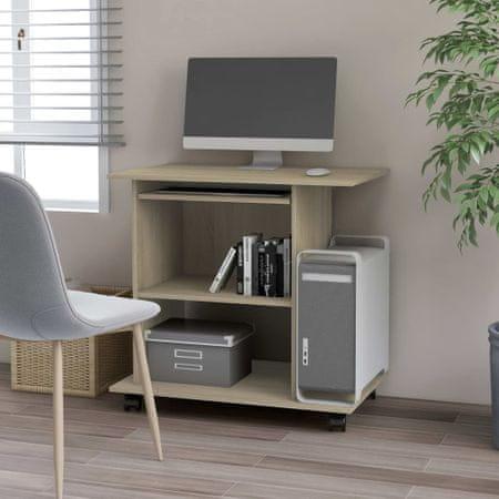shumee sonoma-tölgy színű forgácslap számítógépasztal 80 x 50 x 75 cm