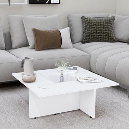shumee fehér forgácslap dohányzóasztal 79,5 x 79,5 x 30 cm
