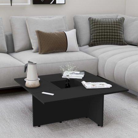 shumee fekete forgácslap dohányzóasztal 79,5 x 79,5 x 30 cm