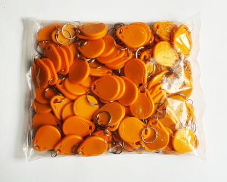 MIFARE® 50 kos RFID obeskov MIFARE Classic® 1K NXP - Oranžne barve