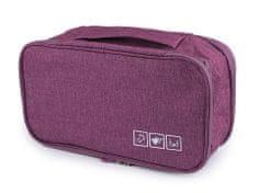 Kraftika 1ks fialová cestovní taška / organizér na spodní prádlo