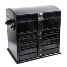 Balmuir Luxusná kožená šperkovnica VICTORIAN XL black