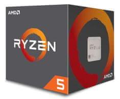 AMD Ryzen 5 1600 procesor, Wraith Stealth hladnjak, 65 W (YD1600BBAFBOX)