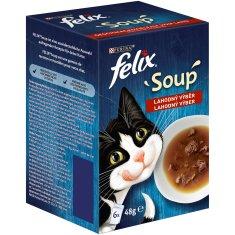 Felix Soup Lahodný výber s hovädzím, kuraťom a jahňacím 8x (6x48 g)