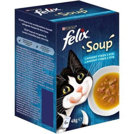 Felix Soup Finom leves választék tőkehal, tonhal és lepényhal halakból 8x (6x48 g)