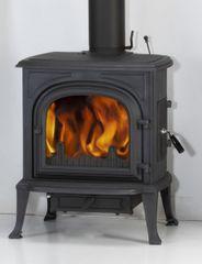 Globe-Fire Krbové kachle ORION, liatina antracitová, rovné presklenie, predné a bočné prikladanie