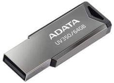 A-Data UV350 USB spominski ključ, 64 GB, srebrn