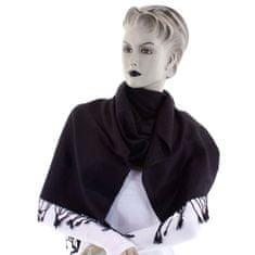 Cashmere Vzorovaná dámská šála Lara černá