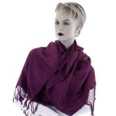 Cashmere Krásná dámská šála Nalda fialová