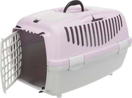Trixie Szállítóbox CAPRI 2 XS-S 37 x 34 x 55 cm, világosszürke/világoslila