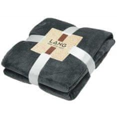 Lang Delux Soft odeja, 130 x 180 cm, flis-poliester, črna