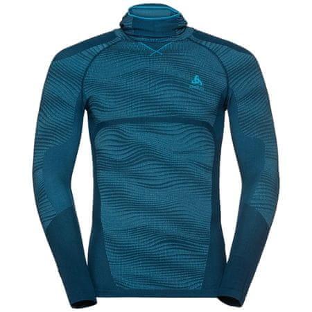 ODLO Performance Blackcomb moška majica z masko, Poseidon - Blue Jewel - Atomic Blue (B:20508), XL
