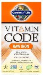 Garden of Life Vitamin Code RAW Železo 30kapslí