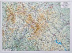 Excart Jeseníky - plastická nástěnná mapa