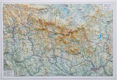 Excart Krkonoše - plastická nástěnná mapa