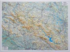 Excart Šumava - plastická nástěnná mapa