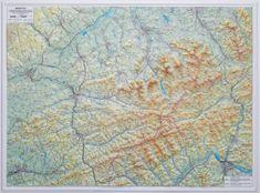 Excart Beskydy 1:100 t. - plastická nástěnná mapa