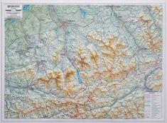 Excart Beskydy 1:66 t. - plastická nástěnná mapa