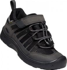 KEEN detská kožená outdoorová obuv Hikeport 2 Low WP Y black/black