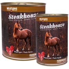 Meat Love Konzervy steakhouse 100% konské mäso 800g