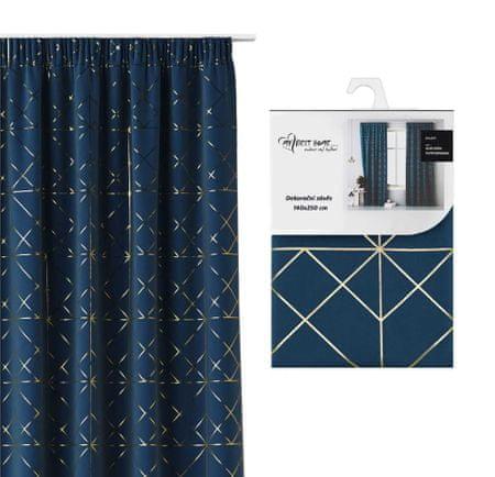 My Best Home Dekoratív függöny redőzött szalaggal BRILIANT kék 140x250 cm