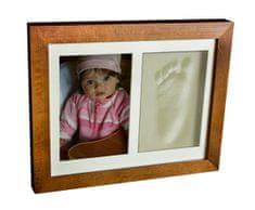 Svět-pokojů Otisky s fotkou v rámečku hnědý - 2 dílný