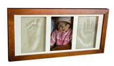 Svět-pokojů Otisky s fotkou v rámečku hnědý - 3 dílný