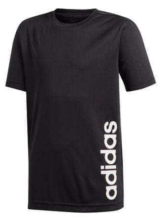 Adidas YB TR LIN TEE fiú póló, 128, fekete