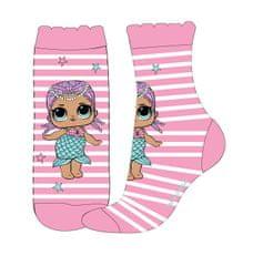 """Eplusm Dievčenské vysoké ponožky """"LOL"""" - ružová"""
