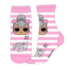 """Eplusm Dievčenské vysoké ponožky """"LOL"""" MGA - ružová"""